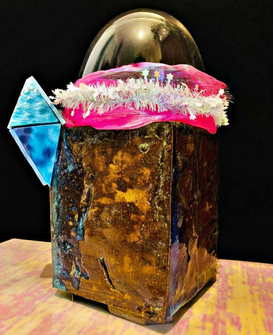 Ana Mendes, Glass and Ceramics, Title. Space Grunge Madness1