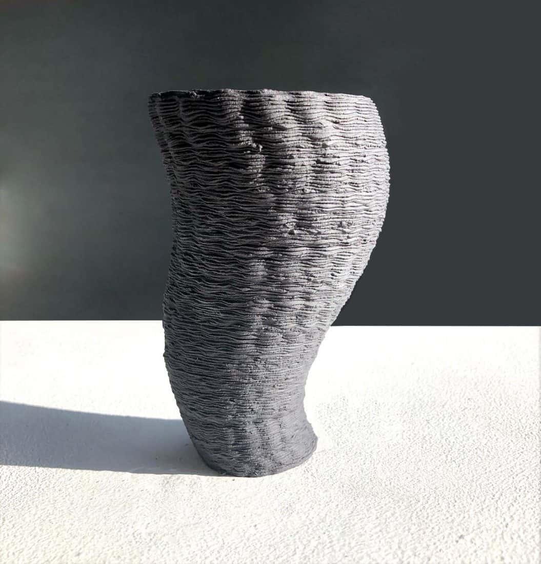 Jessica Wright, Glass and Ceramics, Title. Black Porcelain 3B