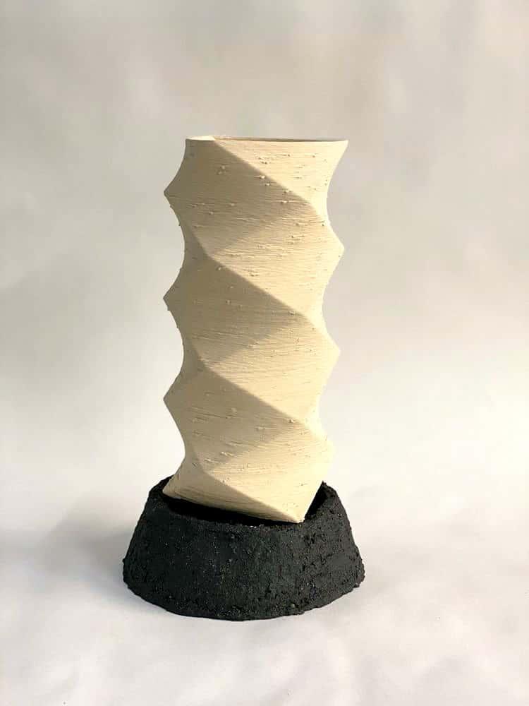 Jessica Wright, Glass and Ceramics, Title. Pillar Series 2