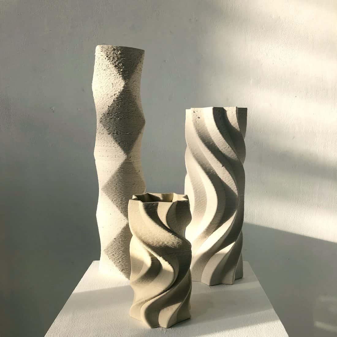 Jessica Wright, Glass and Ceramics, Title. Pillar Series 3