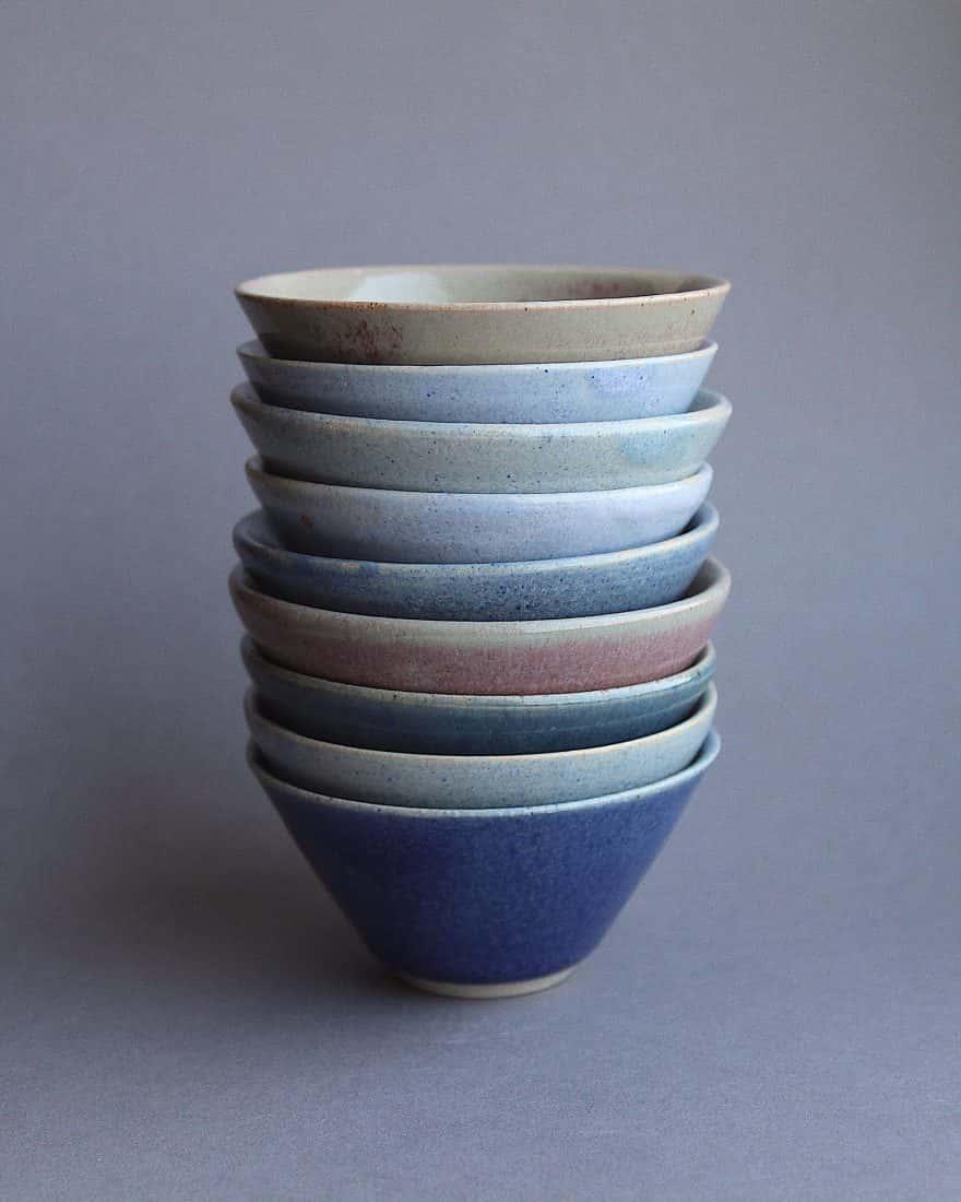Lauren Frost, Glass and Ceramics, Title. Glazed Bowls 2019