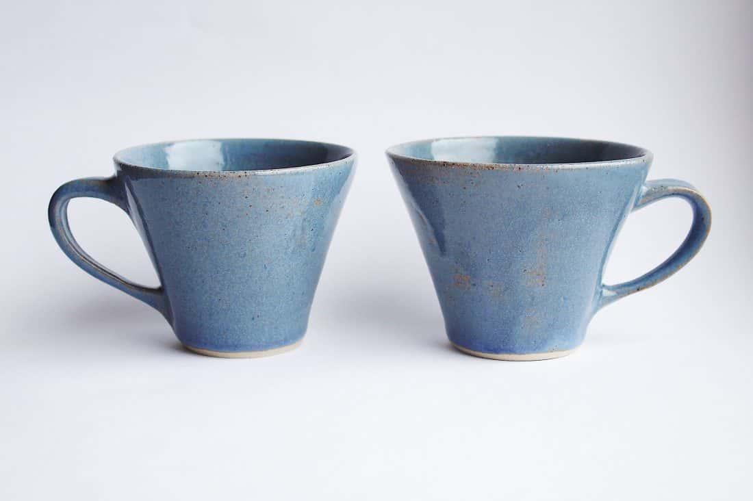 Lauren Frost, Glass and Ceramics, Title. Glazed Teacups 2020